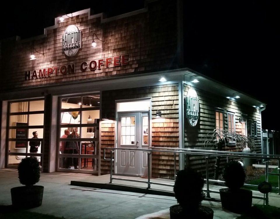 Hampton Coffee Company, Exterior Paint, Aquebogue, NY.